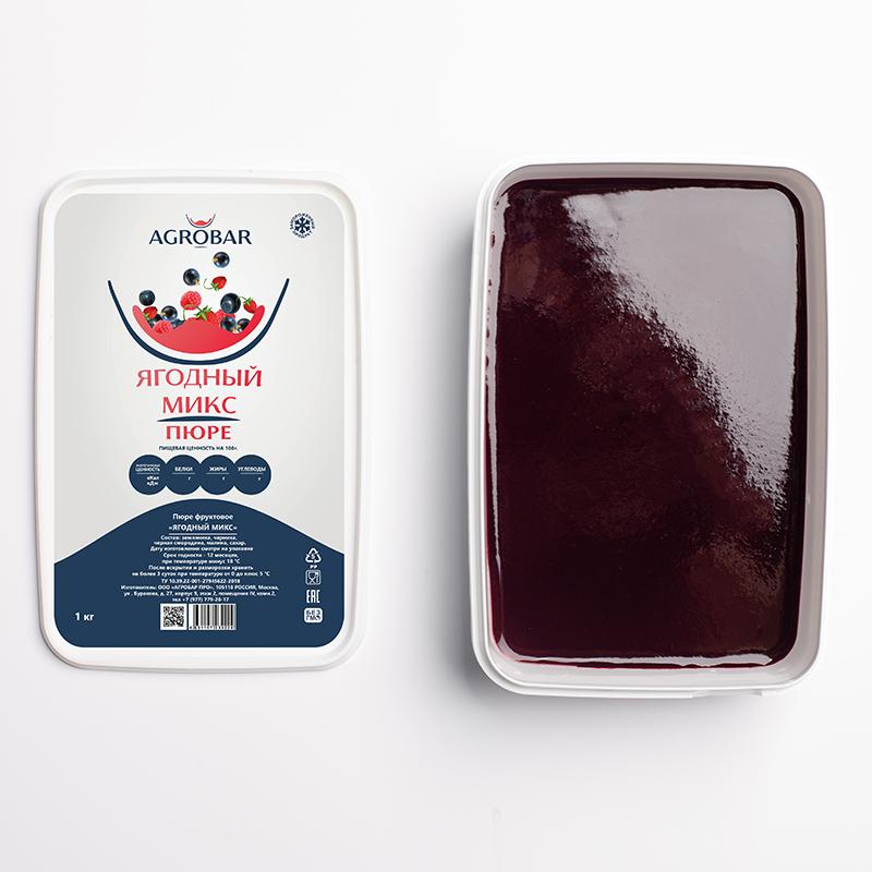 Пюре ягодный микс (зам.), 250 гр